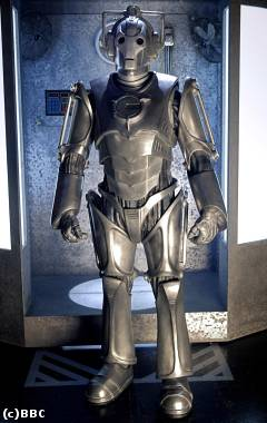 The new look Cyberman.  Copyright BBC