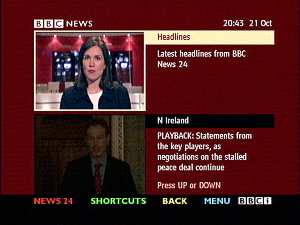 The BBCi News Multiscreen in 2003