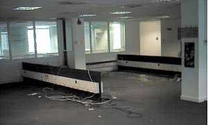 The now empty fifth floor of Bush House
