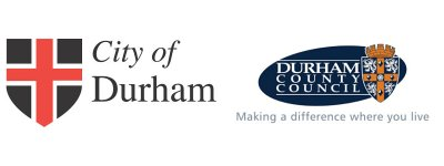 The council logos of Durham County Council and City of Durham Council