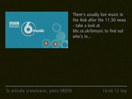 BBC 6music on Freesat