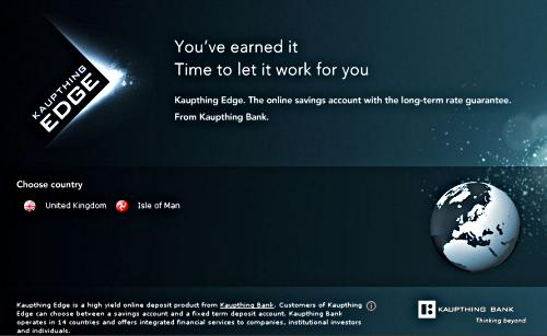KaupthingEdge.com as of 31 October 2008