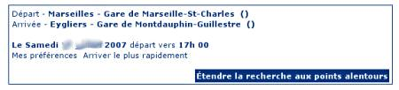TER SNCF website on 3 June 2007
